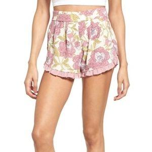 Leith ruffle trim floral shorts